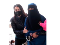 The woman was initially detained in Turkey (DHA/AP)