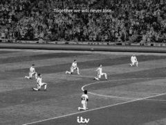 England players take the knee (ITV/PA)