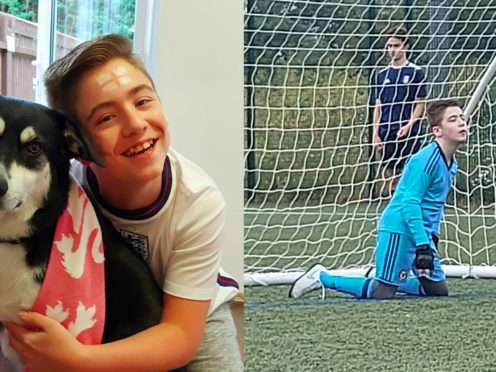 Rhys Porter received abusive comments on TikTok after sharing a video of himself playing football (Kelly Porter)