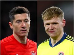 Could Robert Lewandowski and Aaron Ramsdale be on the move? (Mike Egerton/Tim Goode/PA)