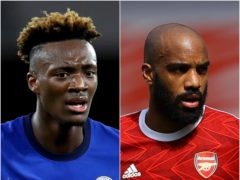 Could Tammy Abraham and Alexandre Lacazette be on the move? (Julian Finney/PA)