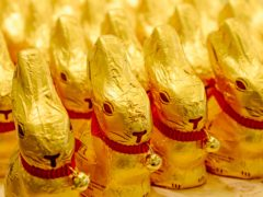 A German federal court ruled the golden shade of the foil wrap on Lindt & Spruengli's Gold Bunny enjoys protected status (Winfried Rothermel/dpa via AP)
