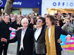Charlie Watts, Ronnie Wood and Sir Mick Jagger of The Rolling Stones (Ian West/PA)