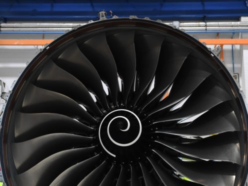 Embattled engine-maker Rolls-Royce returned to profit in the first half of 2021, but warned that the pandemic-hit international aviation industry is taking longer than expected. (Paul Ellis/PA)