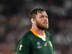 Duane Vermeulen, pictured, could make a surprise return for South Africa in the decisive Test against the British and Irish Lions (Ashley Western/PA)