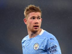 Belgium midfielder Kevin De Bruyne joined Manchester City on this day in 2015 (Michael Regan/PA)
