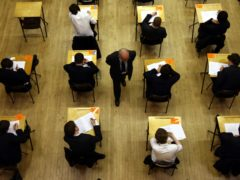 For the second year in a row pupils in England have not had to sit exams at the end of their A-level and GCSE courses (David Jones/PA)