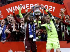 Brendan Rodgers insists Leicester are looking to progress again in 2021/22 and not bask in the glory of last season's FA Cup heroics (Kirsty Wigglesworth/PA)