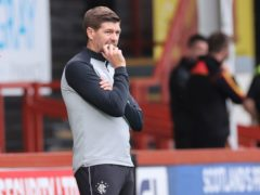 Steven Gerrard's Rangers side face Celtic this weekend (Steve Welsh/PA).
