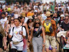 Festival goers at Latitude festival in Suffolk (PA)