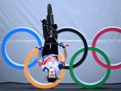 Great Britain's Charlotte Worthington during the Women's Cycling BMX Freestyle (Marijan Murat via DPA)