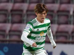 Kyogo Furuhashi hit his first Celtic goal (Jane Barlow/PA)
