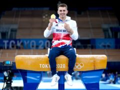 Max Whitlock was still celebrating on Monday (Mike Egerton/PA)