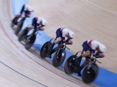 Ethan Hayter, Ed Clancy, Ethan Vernon and Ollie Wood in action (Danny Lawson/PA)