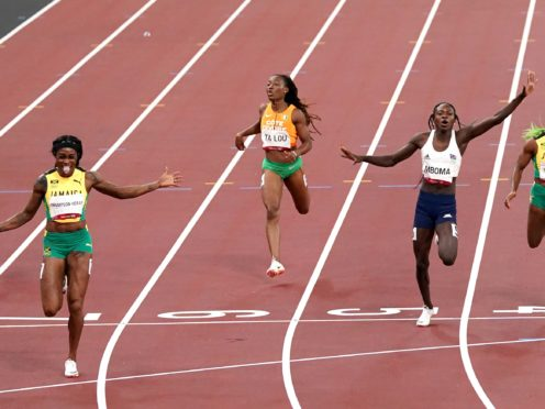 Elaine Thompson-Herah (front left) is among those to have broken records in Tokyo (Martin Rickett/PA)