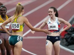Laura Muir finished second in her 1500 metres semi-final on Wednesday (Martin Rickett/PA)