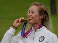 Olympic champion Nelly Korda is favourite for the AIG Women's Open at Carnoustie (Matt York/AP)