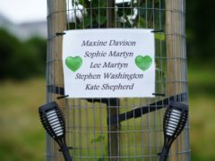 Tributes left in the Keyham area of Plymouth (Ben Birchall/PA)