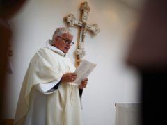 Parish priest David Way during a service at St Thomas' Church in Plymouth, Devon (Ben Birchall/PA)