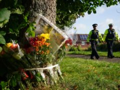 Floral tributes left in Keyham in Plymouth, Devon, for Stephen Washington, after five people were killed by gunman Jake Davison in a firearms incident (Ben Birchall/PA)