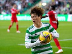 Celtic's Kyogo Furuhashi was the subject of racist chanting (Andrew Milligan/PA)