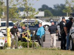A woman and her granddaughter were shot dead after a gunman opened fire outside an automotive factory in central Indiana where the trio worked (Nikos Frazier/Journal & Courier/AP)