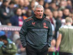 Newcastle manager Steve Bruce saw his side beaten at Villa Park (David Davies/PA)