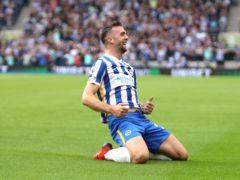 Brighton's Shane Duffy celebrates scoring (Kieran Cleeves/PA)