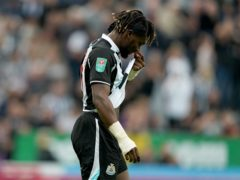 Newcastle's Allan Saint-Maximin has urged his team-mates to stick together after a difficult start to the season (Owen Humphreys/PA)