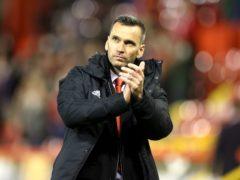 Aberdeen manager Stephen Glass looks dejected (Steve Welsh/PA)
