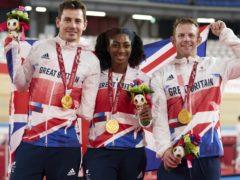 Jaco Van Gass, Kadeena Cox and Jody Cundy grabbed a dramatic gold in the Izu Velodrome (ParalympicsGB/imagecomms)