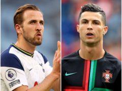Harry Kane and Cristiano Ronaldo (Richard Heathcote/Mike Egerton/PA)