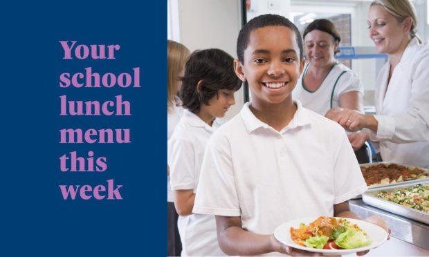 Your school lunch menu this week