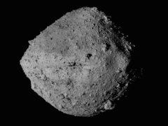 An undated image from NASA showing the asteroid Bennu from the OSIRIS-REx spacecraft (NASA/Goddard/University of Arizona/CSA/York/MDA/AP)