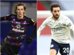 Todd Cantwell, left, and Bernardo Silva feature in today's football rumour mill (Mike Egerton/Julian Finney/PA)
