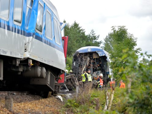 The Western Express Train collided with a passenger train near the village of Milavce in the Czech Republic (Miroslav Chaloupka/CTK Photo via AP)