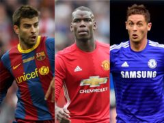 Gerard Pique, Paul Pogba and Nemanja Matic all returned to previous clubs having been let go (PA)