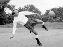 Jimmy Greaves in a training session for Tottenham (PA)