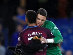 Manchester City duo Ederson, right, and Gabriel Jesus are among eight Brazilian players who have had club restrictions placed on them (John Walton/PA)