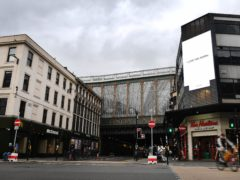 The incident took place near Glasgow Central Station on Sunday (Mark Runnacles/PA)