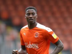 Blackpool's Marvin Ekpiteta was on target in the win at Middlesbrough (PA)