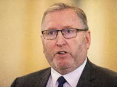 UUP leader Doug Beattie in the Great Hall of Parliament Buildings at Stormont in Belfast (Liam McBurney/PA)