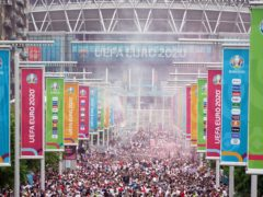 UEFA is investigating the chaos surrounding the Euro 2020 final at Wembley (Zac Goodwin/PA).