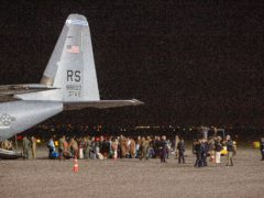 Families evacuated from Kabul (Visar Kryeziu/AP)