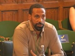 Rio Ferdinand gave evidence to a joint committee of MPs and peers (House of Commons/PA)