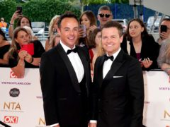 Ant McPartlin and Declan Donnelly attending the National Television Awards 2021 (Ian West/PA)