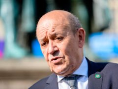 French Foreign Minister Jean-Yves Le Drian (Jens Schlueter/Pool Photo via AP)