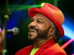 Sri Lankan singer, musician, composer and entertainer Sunil Perera who has died of apparent complications from Covid-19 (AP Photo/Jayasanka Perera)