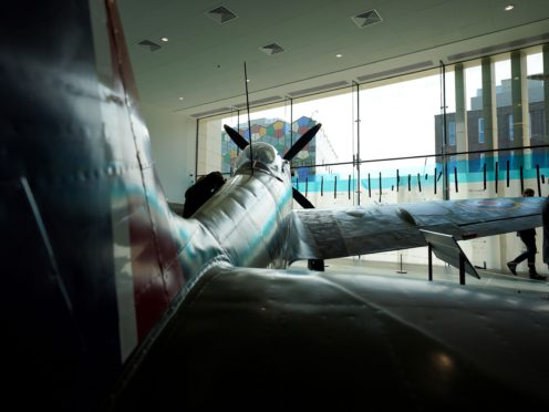 The reconditioned Spitfire will be unveiled the Potteries Museum And Art Gallery in Stoke-on-Trent (Jacob King/PA)