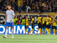 Cristiano Ronaldo (left) could not help his side to victory in Switzerland (Peter Klaunzer/Keystone via AP)